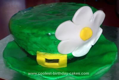 Homemade St. Patrick's Day Leprechaun Hat Cake
