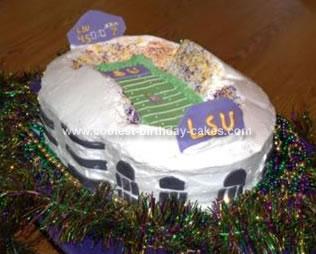 Homemade Stadium Cake