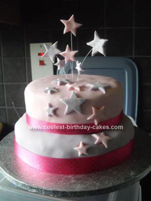 Homemade Star Birthday Cake