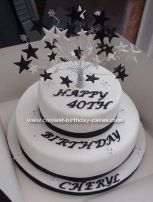 Homemade  Star Birthday Cake