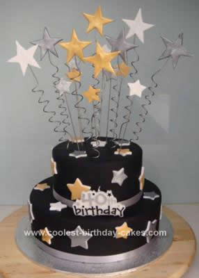 Homemade Star Birthday Cake Design