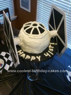 Homemade Star Fighter Cake