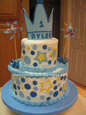 Homemade Star Prince Birthday Cake