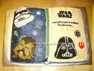 Homemade Star Wars Book Cake