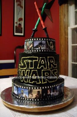 Homemade Star Wars Cake