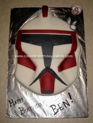 Homemade Star Wars Clone Wars Commander Fox Cake
