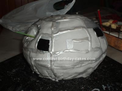 Homemade Star Wars Death Star Cake