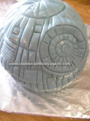 Homemade Star Wars Death Star Cake