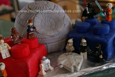 Homemade Star Wars Lego Death Star Cake
