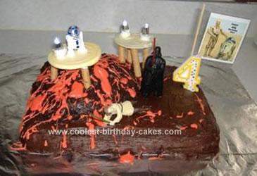 Homemade Star Wars Scene Cake