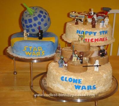 Homemade Star Wars vs. Clone Wars Birthday Cake