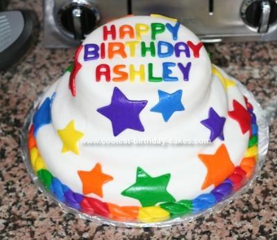 Homemade Stars Cake