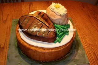 Magnificent Coolest Steak And Potato Cake Personalised Birthday Cards Veneteletsinfo