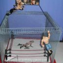 Homemade Steel Cage Wrestling Cake