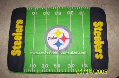 Pleasant Coolest Steelers Cake Funny Birthday Cards Online Fluifree Goldxyz
