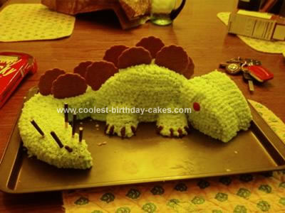 Homemade Stegosaurus Birthday Cake