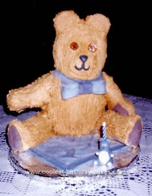 Homemade Steiff Teddy Cake