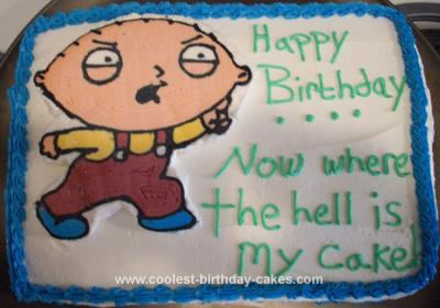 Marvelous Coolest Homemade Family Guy Cakes Personalised Birthday Cards Beptaeletsinfo