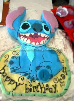 Homemade Stitch Birthday Cake