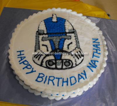 Homemade Storm Trooper Birthday Cake