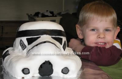 Homemade  Stormtrooper Cake
