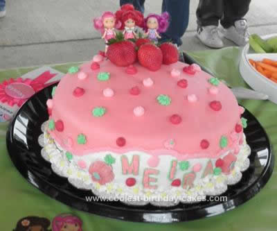 Homemade Strawberry Shortcake 4th Birthday Cake