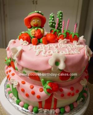 Homemade Strawberry Shortcake Birthday Cake