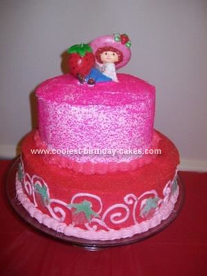Homemade Strawberry Shortcake Birthday Cake