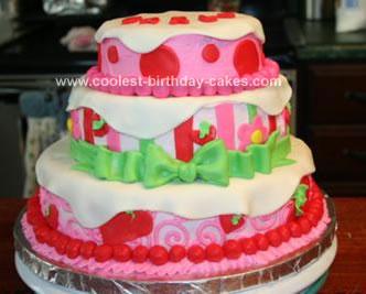 Homemade Strawberry Shortcake Cake Design