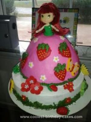 Homemade Strawberry Shortcake Doll Cake