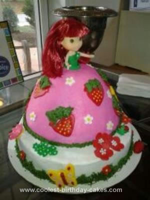 Homemade Strawberry Shortcake Doll Cake