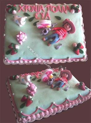 Strawberry Shortcake Sugarpaste Cake