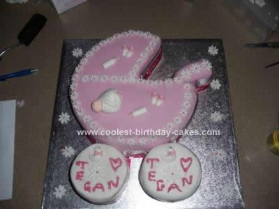 Homemade Stroller Baby Shower Cake