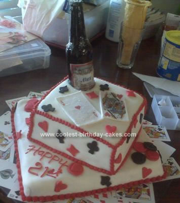 Tremendous Coolest Sugar Beer Bottle Black Jack 21St Birthday Cake Personalised Birthday Cards Epsylily Jamesorg