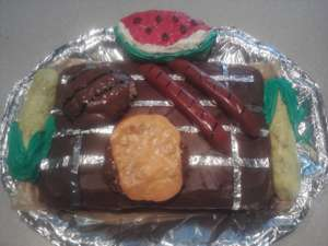 Coolest Summer Feast BBQ Cake