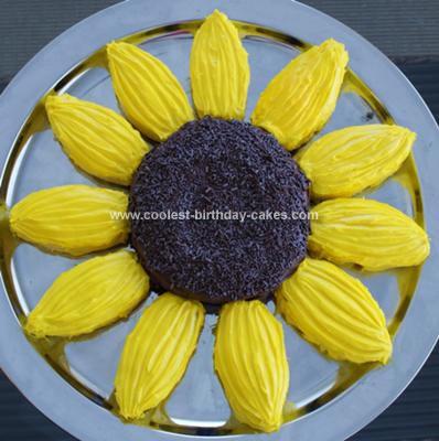 Pleasing Coolest Sunflower Birthday Cake Funny Birthday Cards Online Necthendildamsfinfo