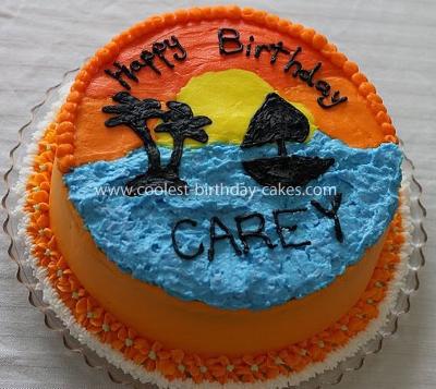 Homemade Sunset Cake