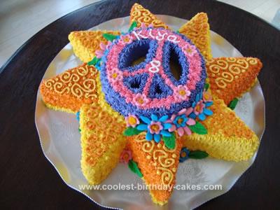 Homemade Sunshine Birthday Cake