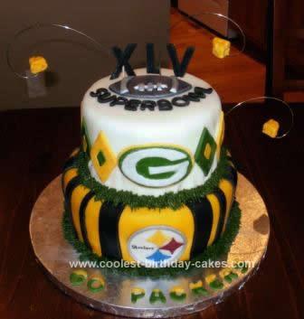 Strange Coolest Super Bowl Xlv Cake Personalised Birthday Cards Veneteletsinfo