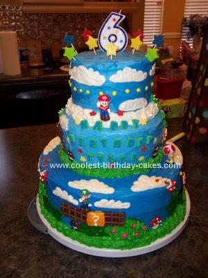Magnificent Coolest Super Mario Bros 6Th Birthday Cake Personalised Birthday Cards Veneteletsinfo