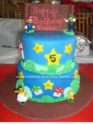 Remarkable Coolest Super Mario Brothers Birthday Cake Funny Birthday Cards Online Bapapcheapnameinfo