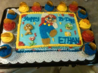 Incredible Coolest Super Mario Brothers Birthday Cake Personalised Birthday Cards Petedlily Jamesorg