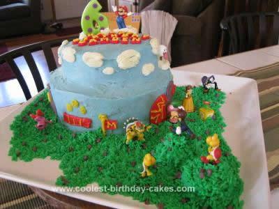 Homemade Super Mario Brothers Birthday Cake