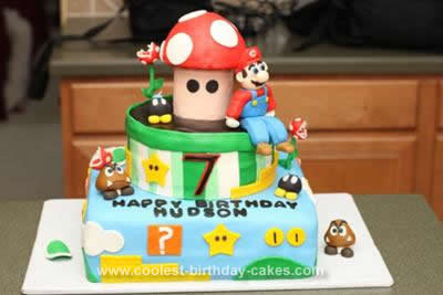 Magnificent Cool Homemade Super Mario Brothers Birthday Cake Design Funny Birthday Cards Online Bapapcheapnameinfo