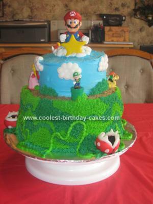 Homemade  Super Mario Brothers Cake