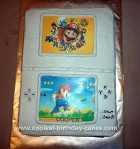 Homemade Super Mario DS Cake