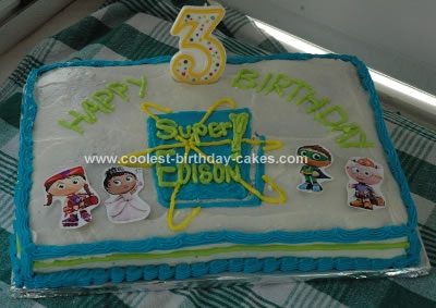Wondrous Coolest Homemade Super Why Cakes Funny Birthday Cards Online Elaedamsfinfo