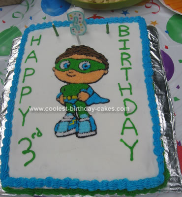 Astounding Coolest Homemade Super Why Cakes Funny Birthday Cards Online Elaedamsfinfo