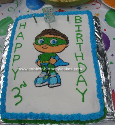 Homemade  Super Why Whyatt Cake