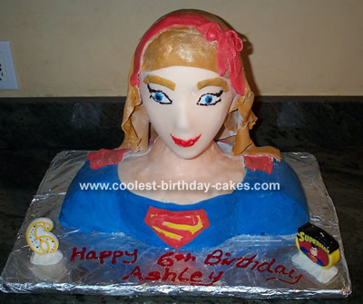 Coolest Homemade Supergirl Cakes